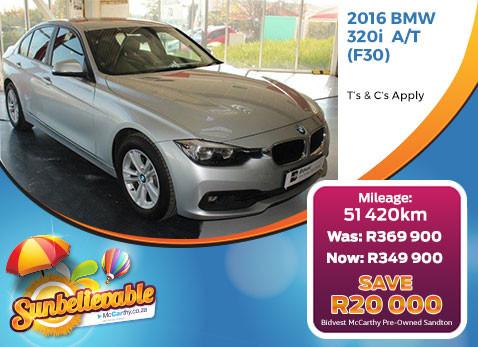 2016 BMW 320I A/T(F30) - Save R20 000