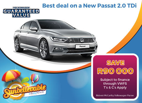 BEST DEAL ON A NEW PASSAT 2.0 TDI - Save R90 000!!