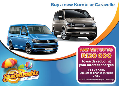 BUY A NEW KOMBI OR CARAVELLE - get up to R120 000 interest assistance