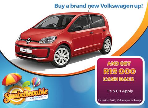 BRAND NEW VOLKSWAGEN UP! Get R15 000 cash back!