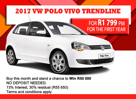 Buy a 2017 Polo Vivo Trendline for R1 799 per month
