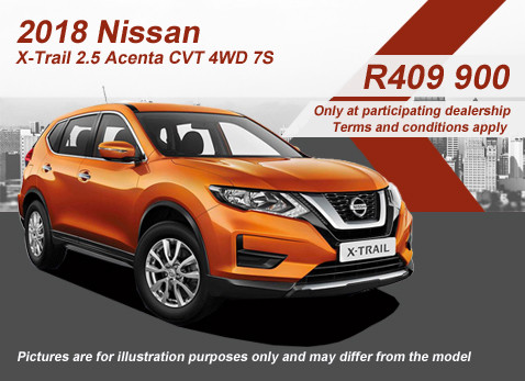 2018 NISSAN X-TRAIL 2.5 ACENTA CVT 4WD 7 SEATER special
