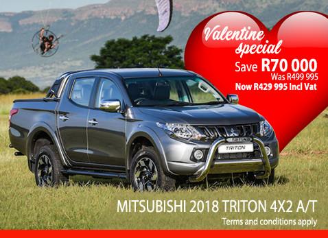2018 MITSUBISHI TRITON 4X2 A/T Save R70 000