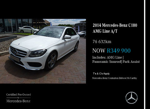used 2014 MERCEDES-BENZ C180 AMG LINE A/T