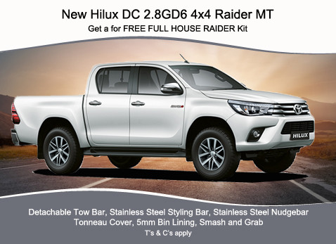 NEW HILUX DC 2.8 GD6 4X4 RAIDER MT