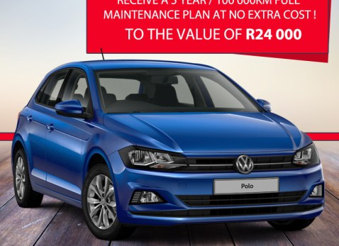 Receive a 5 Year/100 000km full maintenance Plan at no extra cost to the Value of R24 000