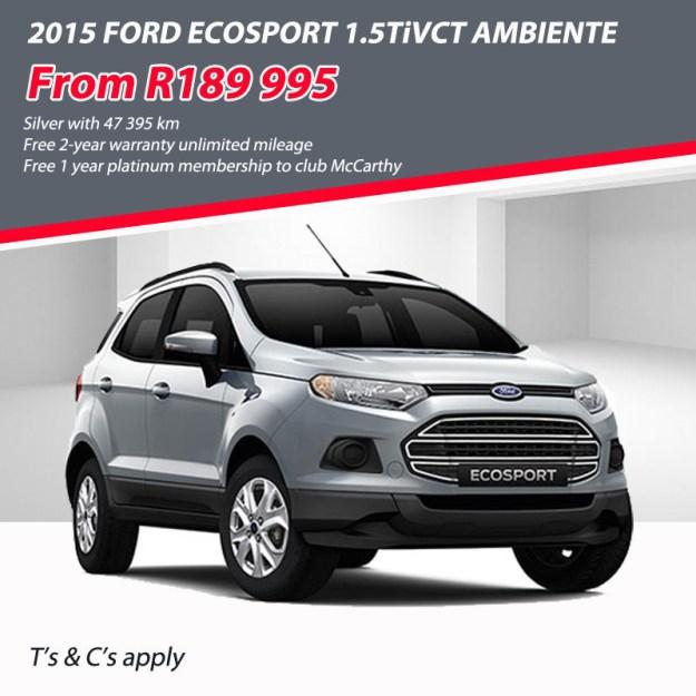 2015 Ecosport special offer