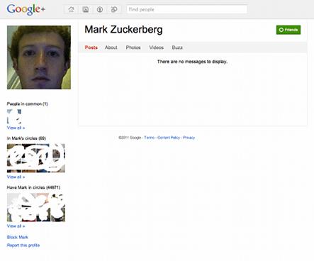 Mark Zuckerberg on Google+