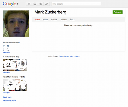 Mark Zuckerberg on Google+
