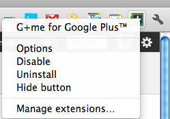 G+me Options and Settings