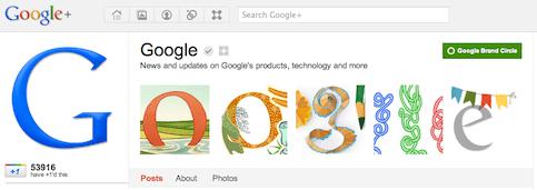Google brand verified Google+ page