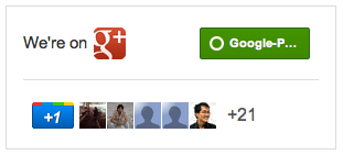 Google+ news page badge/widget!