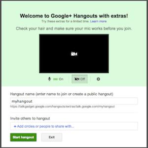 Google+ named hangouts
