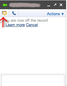 Hangout from Google Chat (GMail)