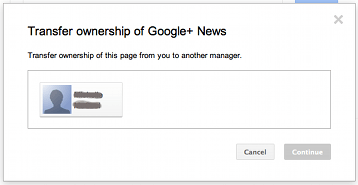 Google+ pages transfer ownership
