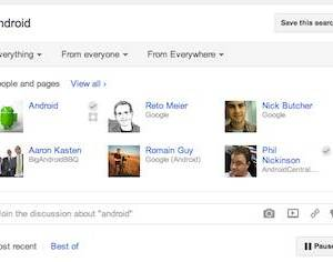 Google+ search start a discussion on any topic!