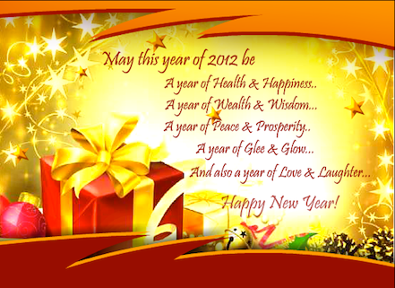 Happy New Year 2012 to our readers!