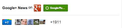 Google+ badge large size 500px