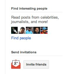 Find interesting people section on G+