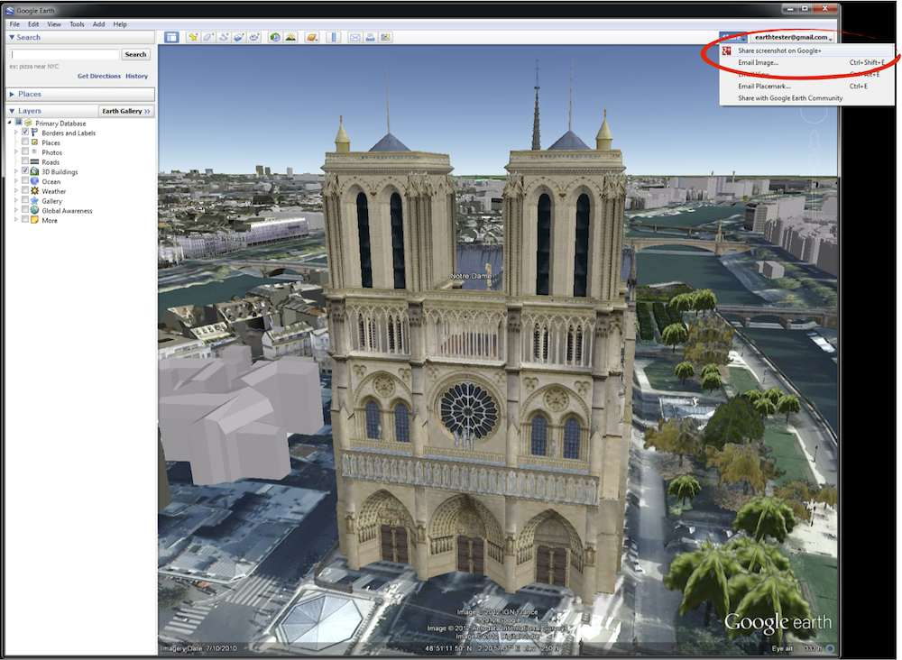 Google Earth Gets Google+ Share : Share Screenshot of Current View With Your Circles!
