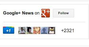 New Follow button on Google+ badge