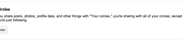 Your circles setting under Google+ settings