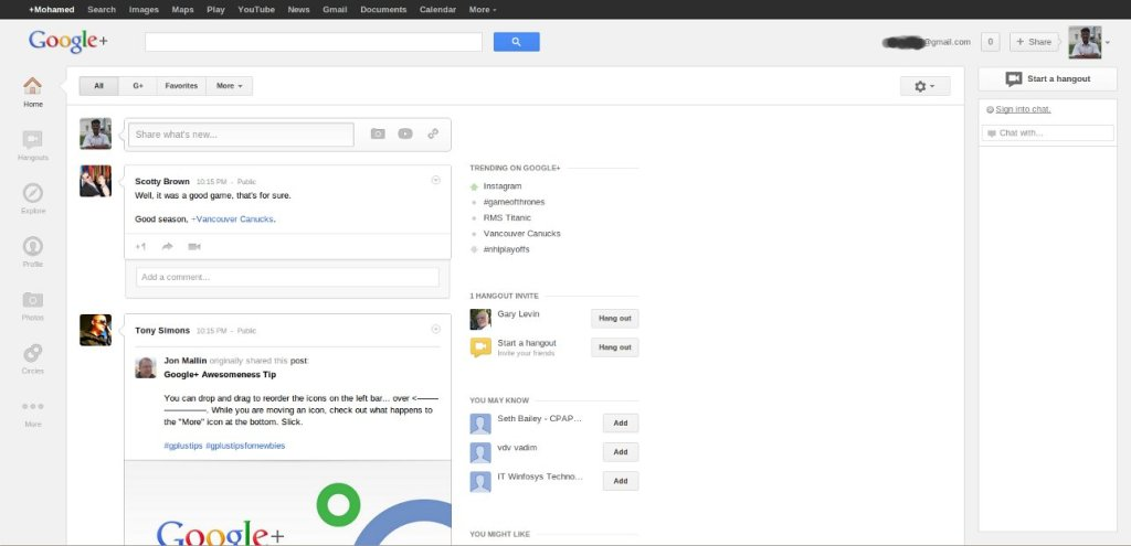 Google+ Whitespace : Is It Really a Big Deal?