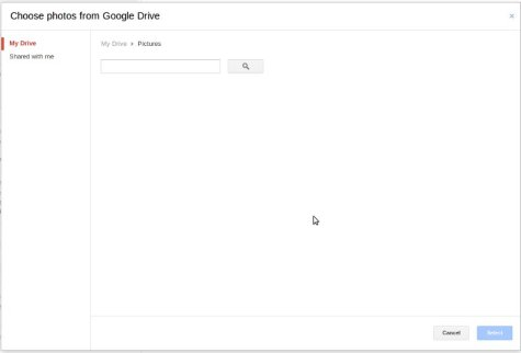 Select files and folders from your Google drive