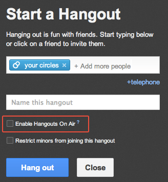 HOA is rolled out to all google+ users in 220+ countries