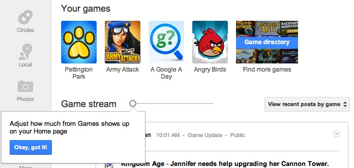 How to Control Your Google+ Game Updates on Your Home Stream?