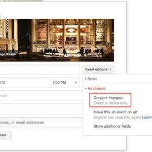 Schedule a hangout via google+ events