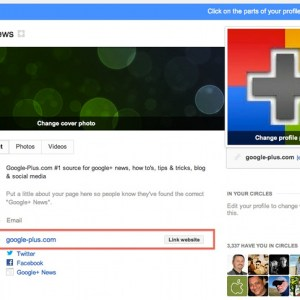 Link your website to your google+ page and increase brand visibility