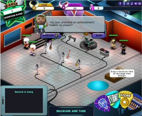 band stars game released on google+