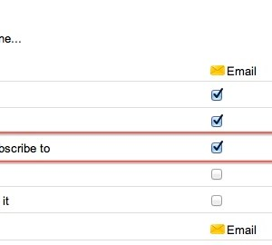 turn off email notifications for new shared posts