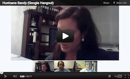 Hurricane Sandy Hangout Video