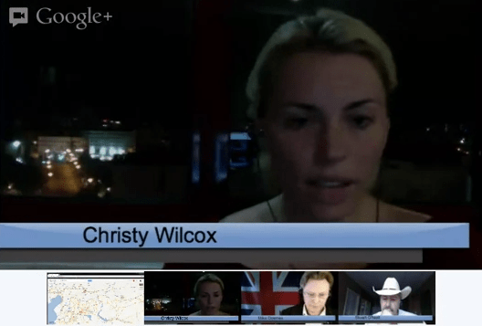 Watch Christy Wilcox Sharing Syria Updates via Google+ Hangout on Air [Video]