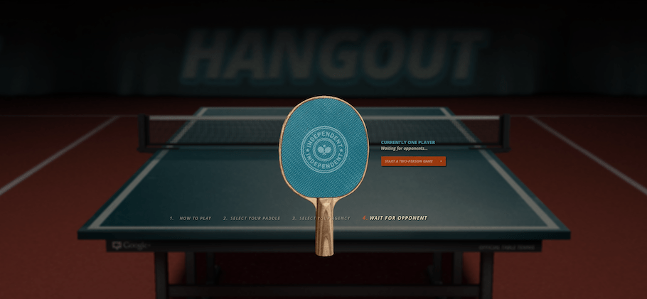 World's First Google+ Ping Pong Hangout – Play With Your Circles Around the World!