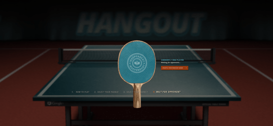 Play ping pong with your google+ circles and friends