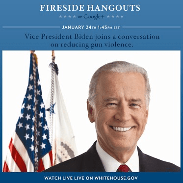 vice president google+ hangout jan 24th 2013