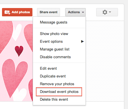 Now Download All Photos From Google+ Events With the Click of a Menu!