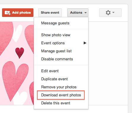 download google+ event photos