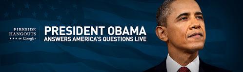 president obama google+ hangout