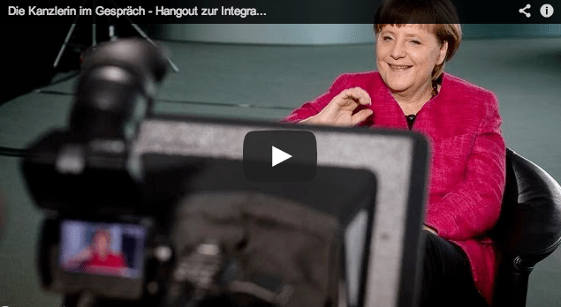 German Chancellor Angela Merkel in Google+ Hangout [Video]