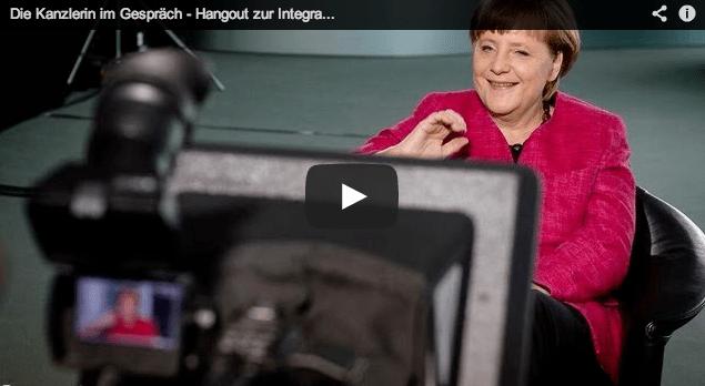 German Chancellor Angela Merkel in Google+ Hangout [Video]