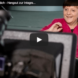 Angela Merkel Google+ hangout video