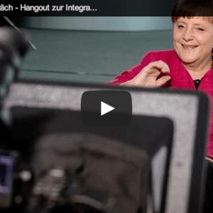 Angela Merkel Google+ hangout video