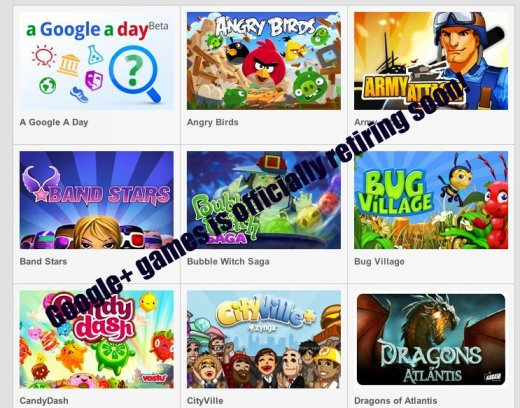 Google+ games spring cleaning!