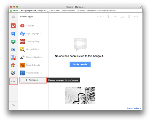 How to launch hangout apps?