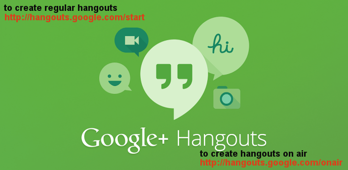 New Permanent Links to Create Regular Hangouts and Hangouts on Air (HOA)