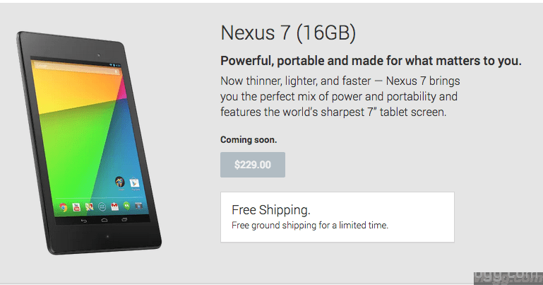 Google Nexus 7 FHT Android 4.3 Tablet on Play Store